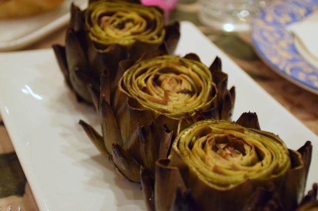 Whole Roasted Artichokes