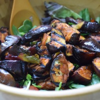 Smoked Paprika Aubergine Mint Salad