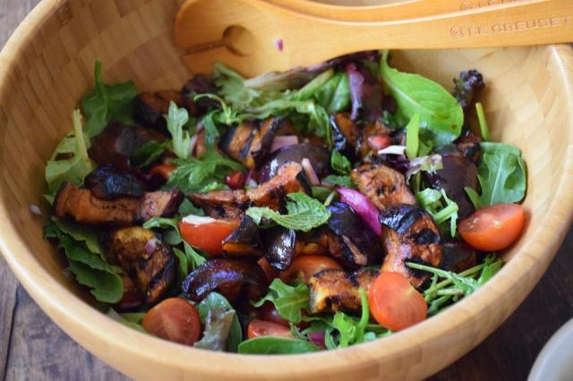 Smoked Paprika Aubergine & Mint Salad