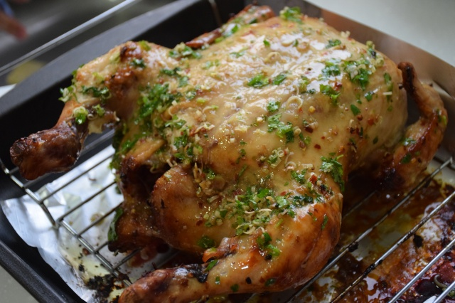 baste the chicken with the lemongrass mixture