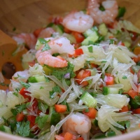 Thai Spicy Shrimp and Pomelo Salad