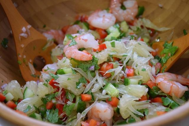 Thai Spicy Sprimp and Pomelo Salad