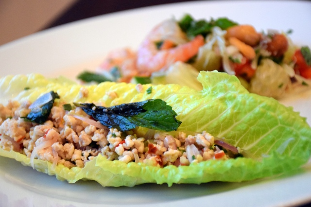 Thai Minced Chicken Salad (Larb Gai)